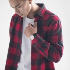 824.22 руб. 40% СКИДКА|2018 горячая Распродажа, модные мужские утепленные повседневные рубашки с длинными рукавами, клетчатые фланелевые хлопковые облегающие рубашки Camisa, большие размеры, S 4XL-in Повседневные рубашки from Мужская одежда on Aliexpress.com | Alibaba Group
