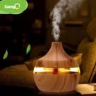 Электрический увлажнитель воздуха saengQ, диффузор эфирного арома-масла, ультразвуковой увлажнитель воздуха с древесным зерном, USB, мини-распы...