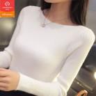 752.1 руб. 48% СКИДКА|2019 осень зима кашемировый свитер Женская мода пикантные большой Slash шеи женские свитера пуловер теплый с длинным рукавом вязаные свитера-in Пуловеры from Женская одежда on Aliexpress.com | Alibaba Group