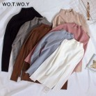 US $10.39 48% OFF|WOTWOY 2019 Cashmere Knitted Women Sweater Pullovers Turtleneck Autumn Winter Basic Women Sweaters Korean Style Slim Fit Black-in Pullovers from Women's Clothing on Aliexpress.com | Alibaba Group