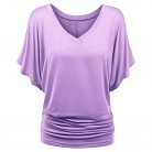 487.34 руб. 44% СКИДКА|Romacci женская летняя свободная футболка с v образным вырезом и короткими рукавами, большие размеры, футболка XXXL XXXXL 4XL 5XL, однотонный Повседневный Топ-in Футболки from Женская одежда on Aliexpress.com | Alibaba Group