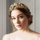 Винтажная Римская богиня, Золотая повязка на голову, оливковые листья, головной убор, женские диадемы на лоб, свадебные украшения для волос