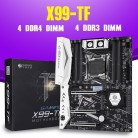 HUANANZHI X99 X99-TF motherboard with dual M.2 NVME slot support both DDR3 and DDR4 LGA2011-3