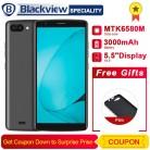 "Blackview A20 смартфон 5,5 ""18:9 Экран Android GO MTK6580M 4 ядра 1 ГБ Оперативная память 8 GB Встроенная память двойной задней камерами 3000 mAh gps 3g телефон купить на AliExpress"