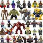 Legoings Marvel Супер Герои Бесконечность войны танос стражи Галактики паук Железный человек Мстители Тор строительные блоки игрушки Фигурки
