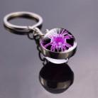 Биологический вирусный раковые клетки фото стеклянный шар брелок для ключей сумка кулон исследования рака продукты подарки для биолога до...