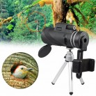 1090.41 руб.  40X60 зум объектив HD двойной для фокусировки оптическая Призма Монокуляр телескоп объектив с штативом клип мобильные смартфоны Камера Рыбалка купить на AliExpress