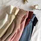 572.53руб. 53% СКИДКА|Осень зима 2019, толстый свитер для женщин, ВЯЗАННЫЙ ПУЛОВЕР в рубчик, свитер с длинным рукавом, водолазка, тонкий джемпер, мягкий теплый пуловер для женщин-in Пуловеры from Женская одежда on AliExpress - 11.11_Double 11_Singles' Day