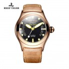 8309.92 руб. 20% СКИДКА|Спортивные часы Reef Tiger/RT из розового золота, мужские часы с черным циферблатом скелета, светящиеся самообмоточные часы RGA704-in Механические часы from Ручные часы on Aliexpress.com | Alibaba Group