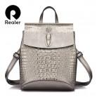 2461.54 руб. 55% СКИДКА|REALER бренд модный женский рюкзак высокого качества из сплит кожи, рюкзак школьный для девочек подростков, женская вместительная сумка на плечо с изящными принтами-in Рюкзаки from Багаж и сумки on Aliexpress.com | Alibaba Group