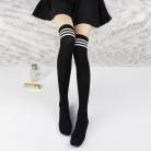 53.27 руб. |Осенне зимние хлопковые носки в японском стиле до колена, белые черные полосатые носки, женские высокие чулки купить на AliExpress
