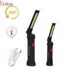 Portable COB Flashlight Torch USB Rechargeable LED Work Light Magnetic COB lanterna Hanging Lamp For Outdoor Camping