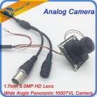 488.48 руб. 31% СКИДКА|5 мегапиксельная 1,7 мм объектив «рыбий глаз» аналоговые HD1200TVL HD CCTV камера COMS IR CUT Камера M12 крепление 1/2. 5