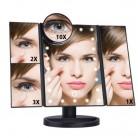 1260.79 руб. |22 светодио дный ных сенсорных экрана 1X/2X/3X/10X зеркало для макияжа Настольный макияж увеличительное зеркала Vanity 3 складное регулируемое зеркало купить на AliExpress
