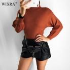 772.49 руб. 40% СКИДКА|Wixra осенне зимние женские водолазки Повседневный с рукавом фонариком свитера женские пуловеры вязаные свитера свободные вязаные джемперы-in Пуловеры from Женская одежда on Aliexpress.com | Alibaba Group