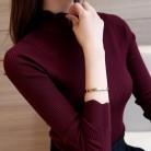 788.26 руб. 40% СКИДКА|2019 корейские модные женские свитера и пуловеры Sueter Mujer гофрированные рукава водолазка однотонные тонкие сексуальные эластичные женские топы-in Пуловеры from Женская одежда on Aliexpress.com | Alibaba Group