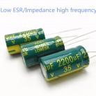 158.8 руб. |35 В 2200 мкФ 13*25 высокая частота низкое сопротивление алюминиевый электролитический конденсатор 2200 мкФ 35 В купить на AliExpress