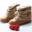 5489.85 руб. 37% СКИДКА|Юнис Choo теплые замшевые женские зимние ботинки женские на танкетке кожа с перекрестной шнуровкой Для женщин ботильоны круглый носок Ботильоны botas Mujer купить на AliExpress