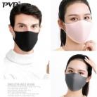 PVP 3 шт. черная двухслойная губчатая маска для рта Пылезащитная многоразовая двухслойная Пылезащитная Ветрозащитная маска