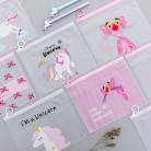 US $0.88 26% OFF|Cartoon Unicorn Pink Leopard Transparent PVC Document Bag File Folder Stationery Organizer-in File Folder from Office & School Supplies on Aliexpress.com | Alibaba Group