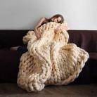 1005.62руб. 15% СКИДКА|Модное одеяло крупной ручной вязки из толстой пряжи, похожее на шерсть, полиэстер, объемное вязаное одеяло s, зимнее мягкое теплое одеяло, Прямая поставка-in Одеяла from Дом и животные on AliExpress - 11.11_Double 11_Singles' Day