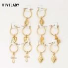 € 2.36 30% de DESCUENTO|VIVILADY moda 5 pares círculo aros redondos mujeres Color oro corazón reina Rosa cristal Hiphop Brincos Boho joyería regalos en Pendientes de aro de Joyería y accesorios en AliExpress.com | Alibaba Group