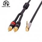 588.73 руб. |HiFi кабель аудио кабель RCA аудио сигнал провода разъем 3,5 мм aux plug преобразование два RCA plug on Aliexpress.com | Alibaba Group