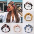 Женские летние Бохо для волос повязки на голову с принтом, винтажные повязки на голову с крестом, банданы, повязки на голову, аксессуары для ...
