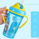 400ML Cute Baby Feeding Cup with Straw BPA Free Portable Feeding Bottle Leak Proof with Handle Kids Training  Tritan Bebe Copos