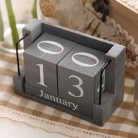 Vintage Wood Calendar Zakka Furnishing Articles Wooden Letters Home Decor Desktop Arts and Crafts Supplies ElimElim-in Figurines & Miniatures from Home & Garden on AliExpress