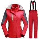 6907.7 руб. 40% СКИДКА| 30 градусов зимний теплый для катания на лыжах костюм для женщин Водонепроницаемый 10 к дышащие сноубордические куртки + брюки женский комплект спортивной одежды на открытом воздухе-in Лыжные куртки from Спорт и развлечения on Aliexpress.com | Alibaba Group