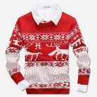 US $10.4 35% OFF|New 2018 Fahion Winter Warm Wool Knitted Mens Ugly Christmas Deer Sweater Crewneck Long Sleeve Reindeer Pullover Knitwear M XXXL-in Pullovers from Men's Clothing on Aliexpress.com | Alibaba Group