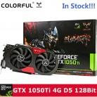 Оригинальные красочные IGame 1050Ti Графика карта NVIDIA 128bit 4 ГБ DDR5 6Pin компьютерного оборудования W/кулер вентилятор DVI + HDMI + DP металла сзади купить на AliExpress