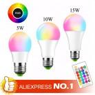 143.26 руб. 30% СКИДКА|E27 светодиодный 16 Цвет RGB Волшебная светодиодная лампочка 5/10/15 Вт 85 265 V RGB светодиодный лампа Spotlight + ИК пульт дистанционного управления Управление светодиодный лампы для дома-in Светодиодные лампы и трубки from Лампы и освещение on Aliexpress.com | Alibaba Group