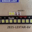 50PCS Original LEXTAR 2835 3528 1210 6V 2W SMD LED For Repair TV Backlight Cold white LCD Backlight LED