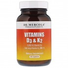 Dr. Mercola, Vitamins D3 & K2, 90 Capsules