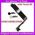 US $80.9 |For iphone 7 4.7inch 100% Original motherboard+touch ID 32GB 128GB 256GB NO iCloud mainboard+Fingerprint for iphone7 IOS System-in Mobile Phone Antenna from Cellphones & Telecommunications on Aliexpress.com | Alibaba Group
