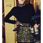 1607.67руб. 19% СКИДКА|2019 роскошный стильный свитер с высоким воротником и длинными рукавами с узором из черных бриллиантов, пуловер, Модная элегантная вязаная одежда, облегающие платья для женщин-in Пуловеры from Женская одежда on AliExpress
