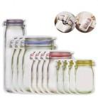 LMETJMA 12 штук Mason Jar сумки на молнии многоразовая сумка для хранения закусок герметичные сумки для хранения еды сэндвич для путешествий детей ...