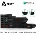 1057.94 руб. |AUKEY Quick Charge 3,0 Мобильный телефон Зарядное устройство USB Wall Зарядное устройство быстрой зарядки для iPhone X 8 7 samsung S8 Xiaomi Tablet Мощность банк купить на AliExpress