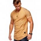 € 7.8 35% de DESCUENTO|2019 nuevos hombres de cuello de corte Slim Color sólido corto hombres camiseta rayas doble manga Raglan estilo T camisa de los hombres tops Tees S XXXL en Camisetas de La ropa de los hombres en AliExpress.com | Alibaba Group