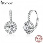 US $8.55 30% OFF|BAMOER Authentic 925 Sterling Silver Dazzling Cubic Zircon Round Zircon Drop Earrings for Women Wedding Silver Jewelry SCE508-in Drop Earrings from Jewelry & Accessories on Aliexpress.com | Alibaba Group