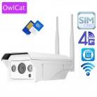 11697.34 руб. 21% СКИДКА|OwlCat Full HD 1080p 960 P HD Пуля ip камера Беспроводная GSM 3g 4G sim карта ip камера Wifi Открытый водостойкий iPhone Android купить на AliExpress
