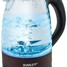 Купить Чайник электрический SCARLETT SC-EK27G97, черный в интернет-магазине СИТИЛИНК, цена на Чайник электрический SCARLETT SC-EK27G97, черный (406223) - Москва