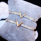 US $2.05 59% OFF SUPIN V Letter Design Best Zircon Rose Gold And White Simple Jewelry Bracelets & Bangle For Women And Girls-in Bangles from Jewelry & Accessories on Aliexpress.com   Alibaba Group