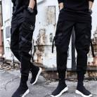 Мужские спортивные штаны, черные облегающие хлопковые камуфляжные штаны с карманами по бокам, 2019