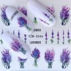 FWC наклейки для ногтей на ногти цветущие наклейки для ногтей Лаванда наклейки для ногтей переводные наклейки для воды купить на AliExpress