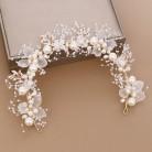 ACRDDK ручной работы Свадебный цветок искусственный жемчуг кристаллы листья Свадебная повязка на голову для женщин лента для волос Детские ак...