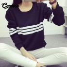 US $11.78 |2018 Harajuku Style Three Bars Striped Hoodies Women Black Long Sleeve Loose Sweatshirt Female Tracksuit Casual Moleton Feminino-in Hoodies & Sweatshirts from Women's Clothing on Aliexpress.com | Alibaba Group