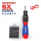 WORKPRO 32 in 1  6X Speed Screwdriver with Bits Set Home Repair Tool Free Shipping